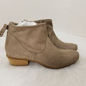 2ea0120ed Paul Green Taupe Super Soft Deerskin Ankle Boots